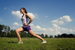 Exercising outside helps to keep you healthy