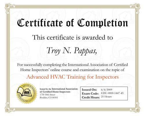 HVAC certification