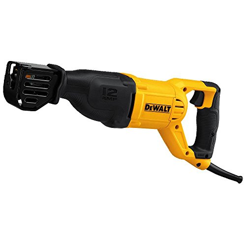 Reciprocating Saw with a Grout Grabber Blade (DEWALT DWE305)