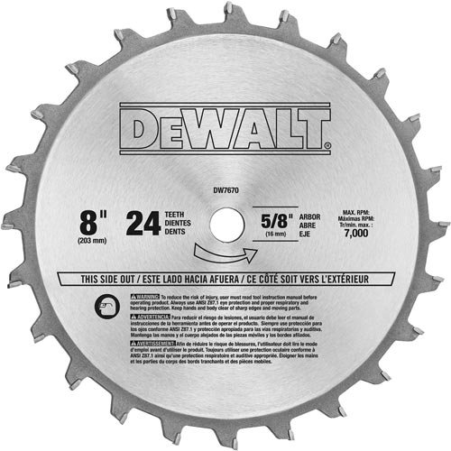 DEWALT DW7670 8-Inch Stacked Dado Blade Set