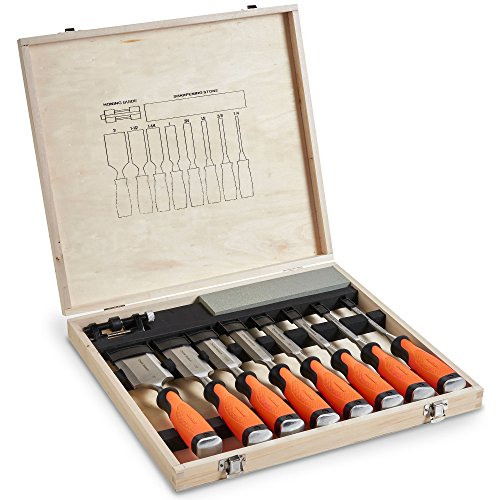 VonHaus 10 pc Premium Craftsman Wood-Chisel Set