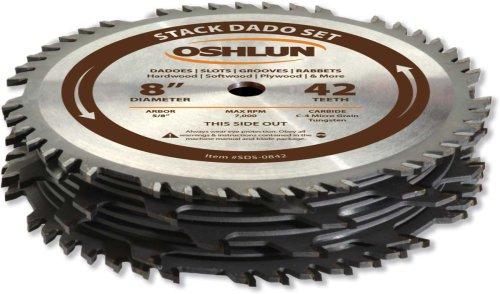Oshlun SDS-0842 8-Inch 42 Tooth Dado Blade Set