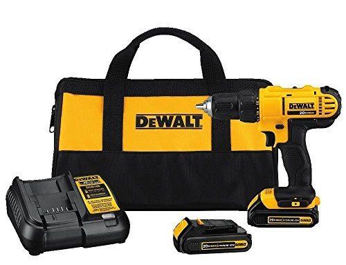 DeWalt DCD771C2 20V Cordless Drill Driver Kit