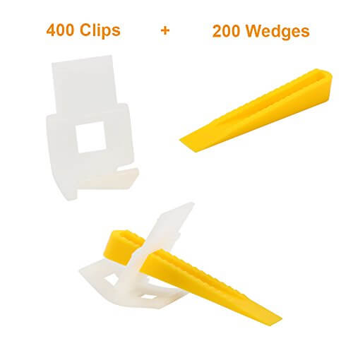 Yaekoo 400 Clips + 200 Wedges Leveling-System for Tiles