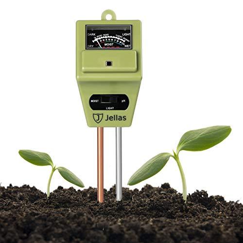Jellas Soil Moisture-Meter – 3-in-1 Plant Tester Kit