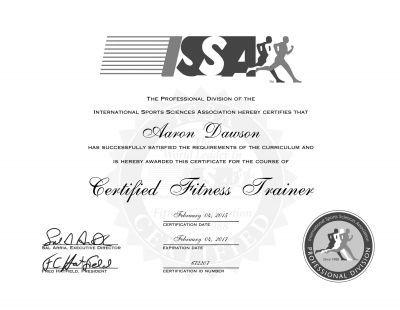 athletic trainer certificate