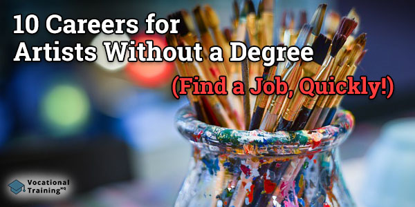 careers for artists without a degree