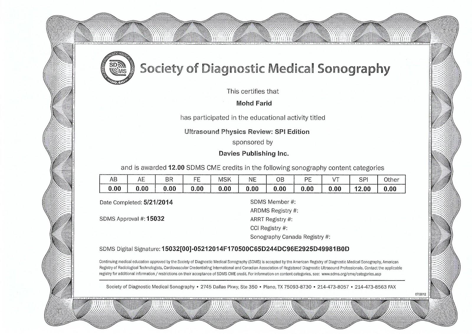 Ultrasound Technician Certificate
