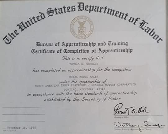 cabinet maker certificate