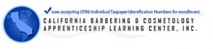 California Barbering & Cosmetology logo