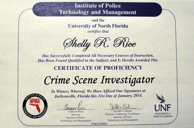 crime scene investigator certificate