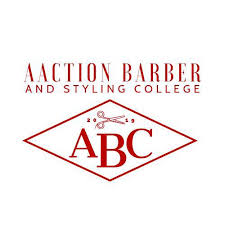 AACTION BARBER AND STYLING COLLEGE logo