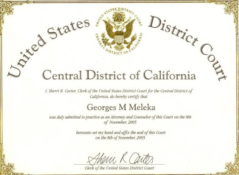 lawyer certificate