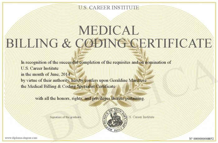Medical Biller and Coder Certificate