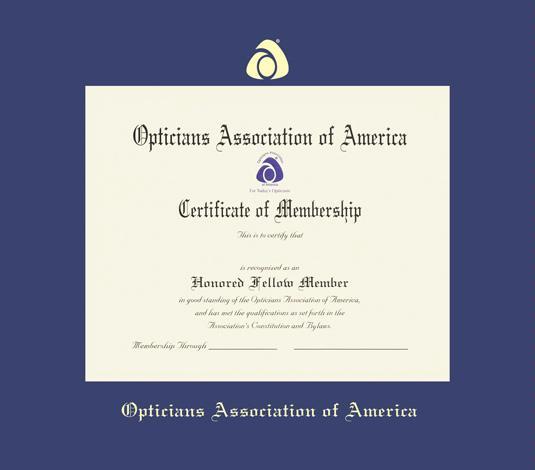 optician certificate