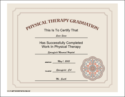 physical therapist certification