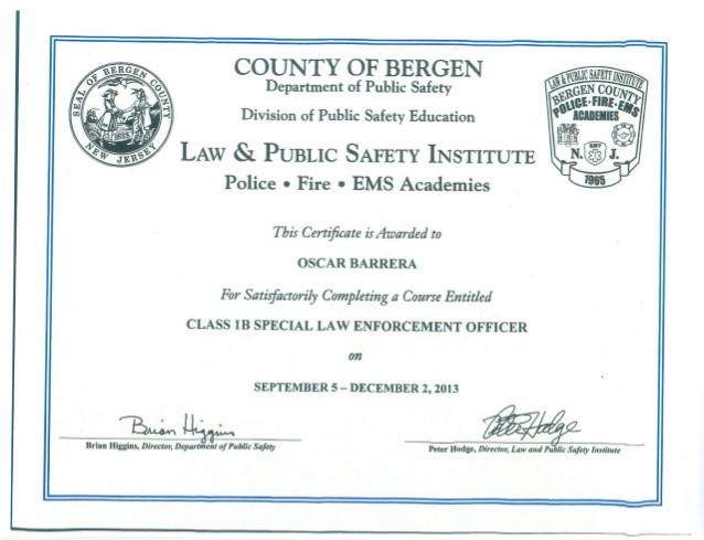 police officer certification
